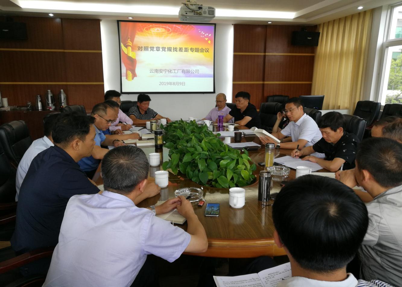 云南安化召开对照党章党规找差距专题会议(图文)